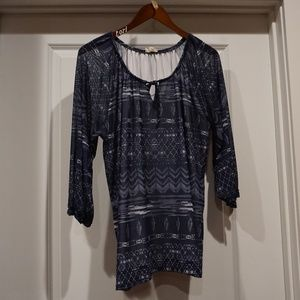 Women's Tribal Jeans Fall Top Large